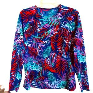 Coolibar Hightide Long Sleeve Swim Shirt Size M